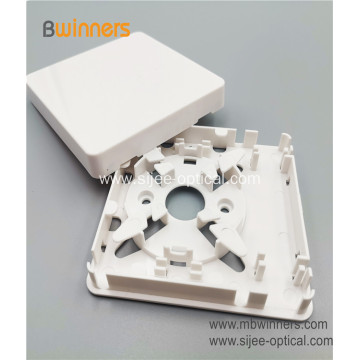 1 Port Plastic FTTH Fiber Optic Wall Socket